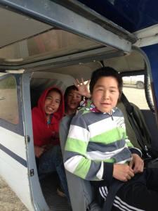 Boys in plane